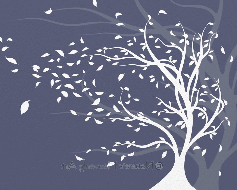 15 The Best Windy Oak Tree Metal Wall Art