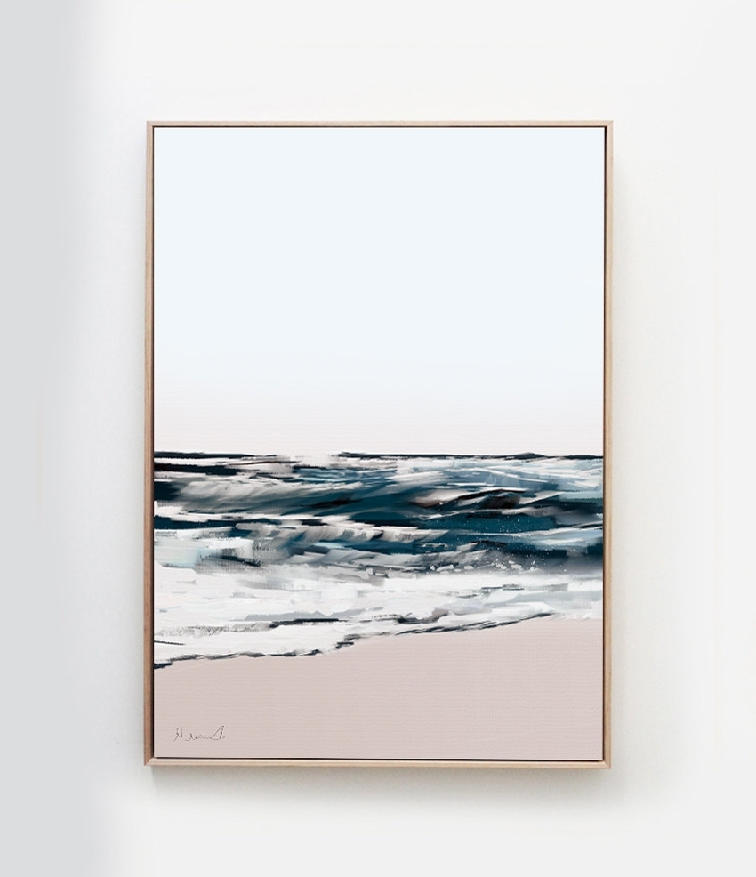 Printable Abstract Art, Seascape Painting, Digital Download Throughout Best And Newest Printable Abstract Wall Art (View 10 of 15)