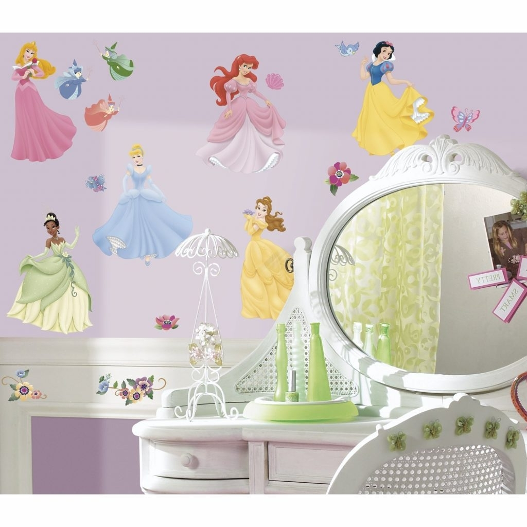 Prissy Ideas Disney Princess Wall Art Plus Peel Stick Decals With Intended For Widely Used Princess Canvas Wall Art (View 11 of 15)