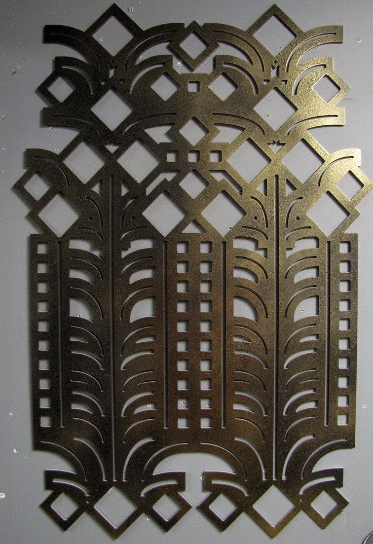 Projects Idea Of Art Deco Wall Decor Decorations Decals Metal Pertaining To  Well Liked Wall Art