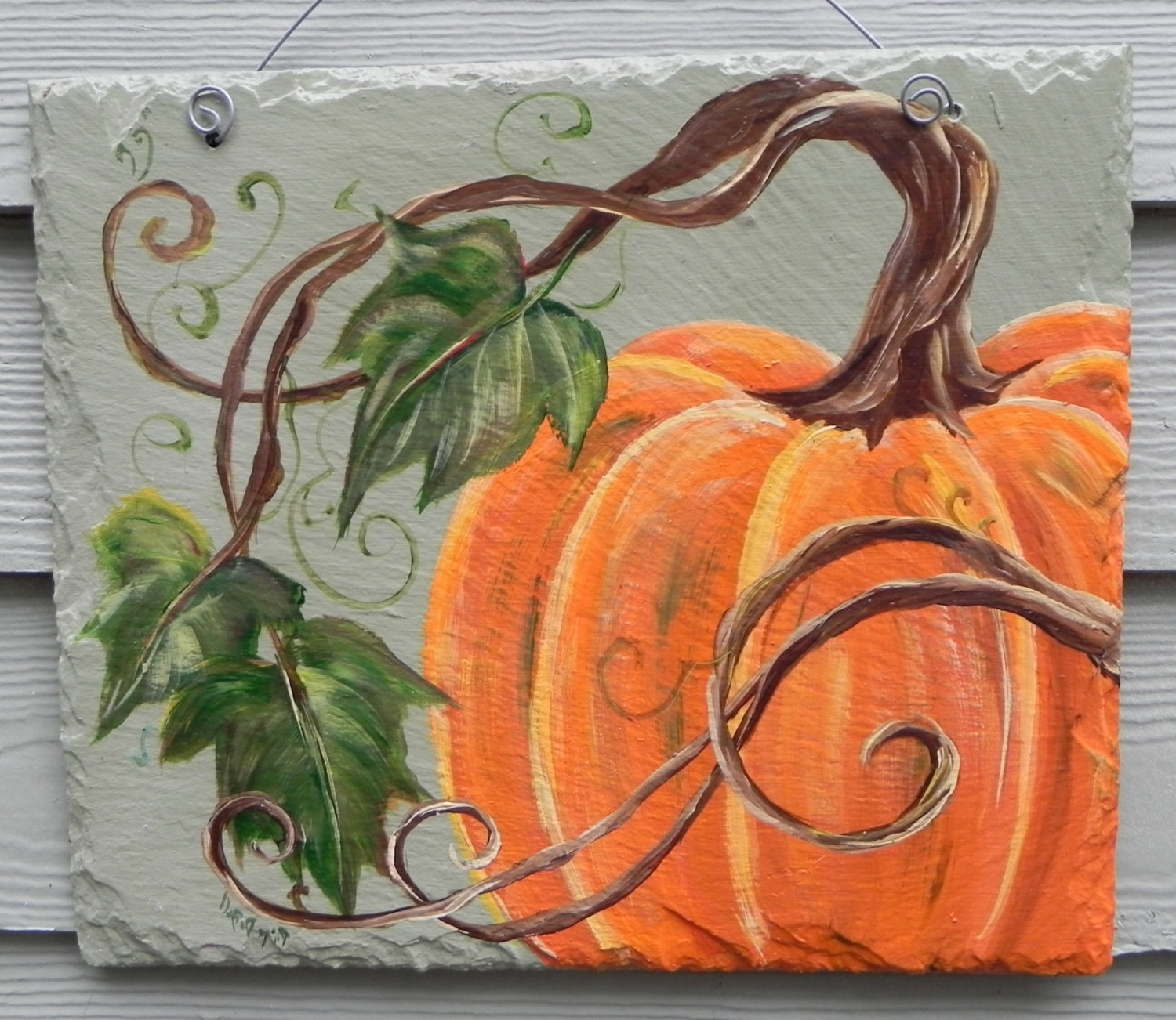 Pumpkin Canvas Painting Pertaining To Autumn Inspired Wall Art (View 3 of 15)