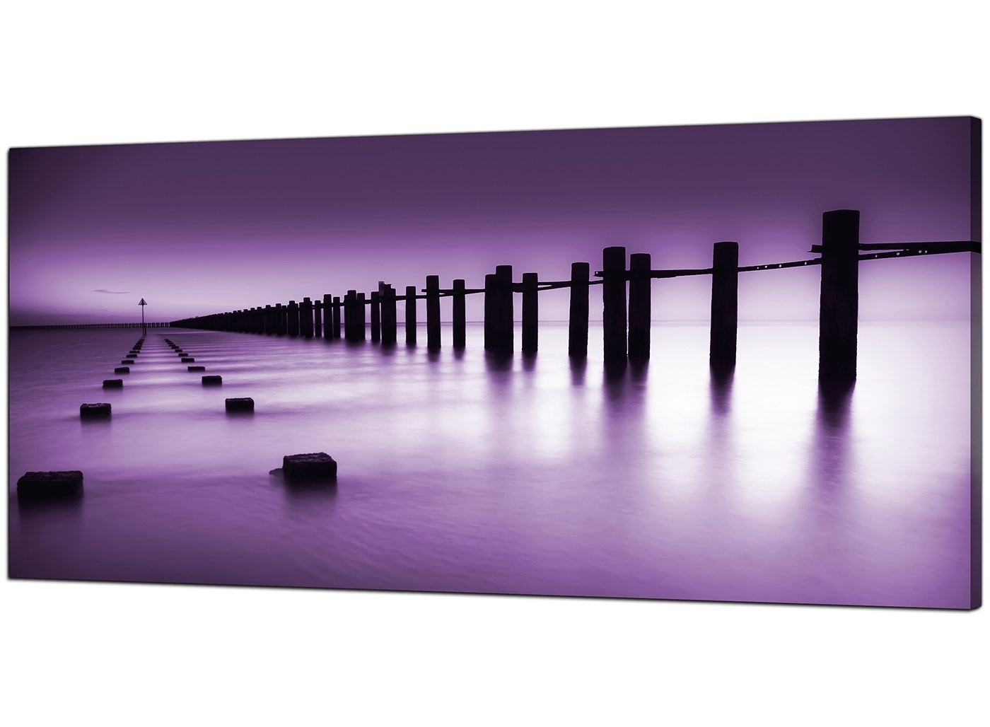 Purple Canvas Wall Art Inside 2017 Cheap Purple Canvas Prints Of The Seaside (View 5 of 15)