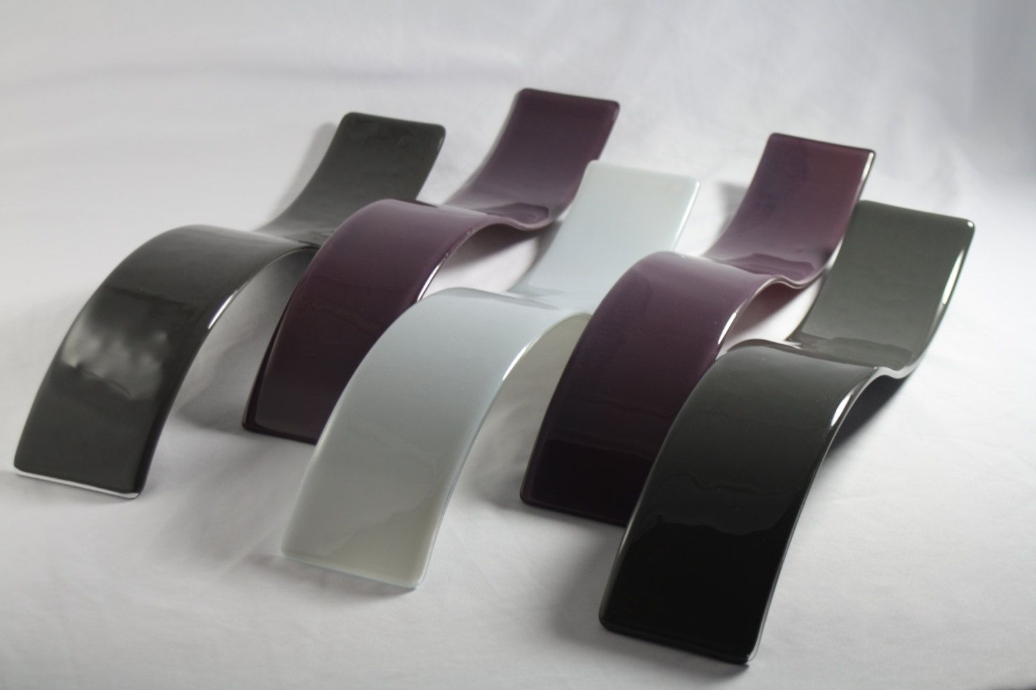 Purple Fused Glass Wall Art For Well Known Custom Purple And Gray Wave Fused Glass Wall Artj.m (View 11 of 15)