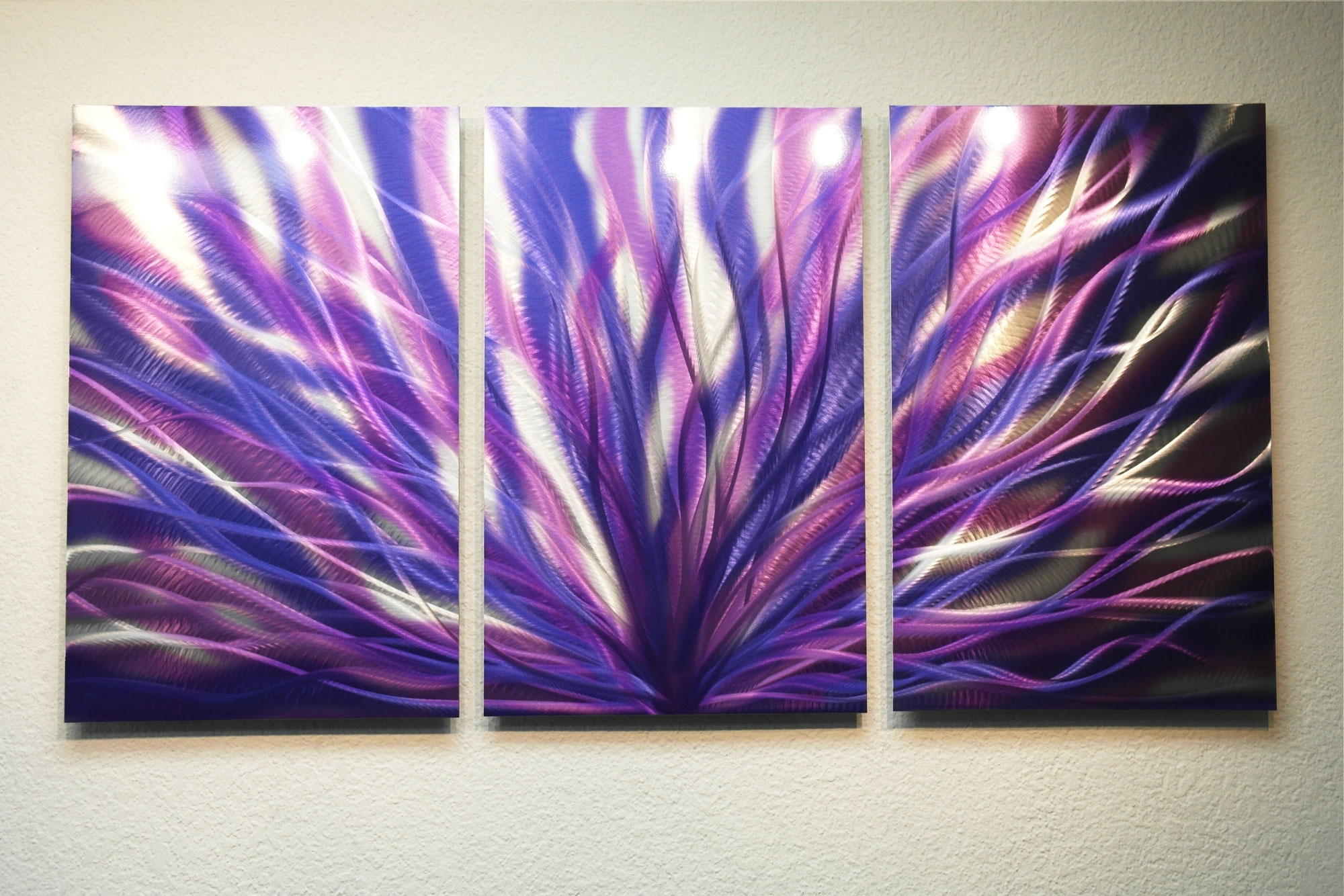 Purple Wall Art With Regard To 2017 Radiance Purple 47 – Metal Wall Art Abstract Sculpture Modern (View 9 of 15)