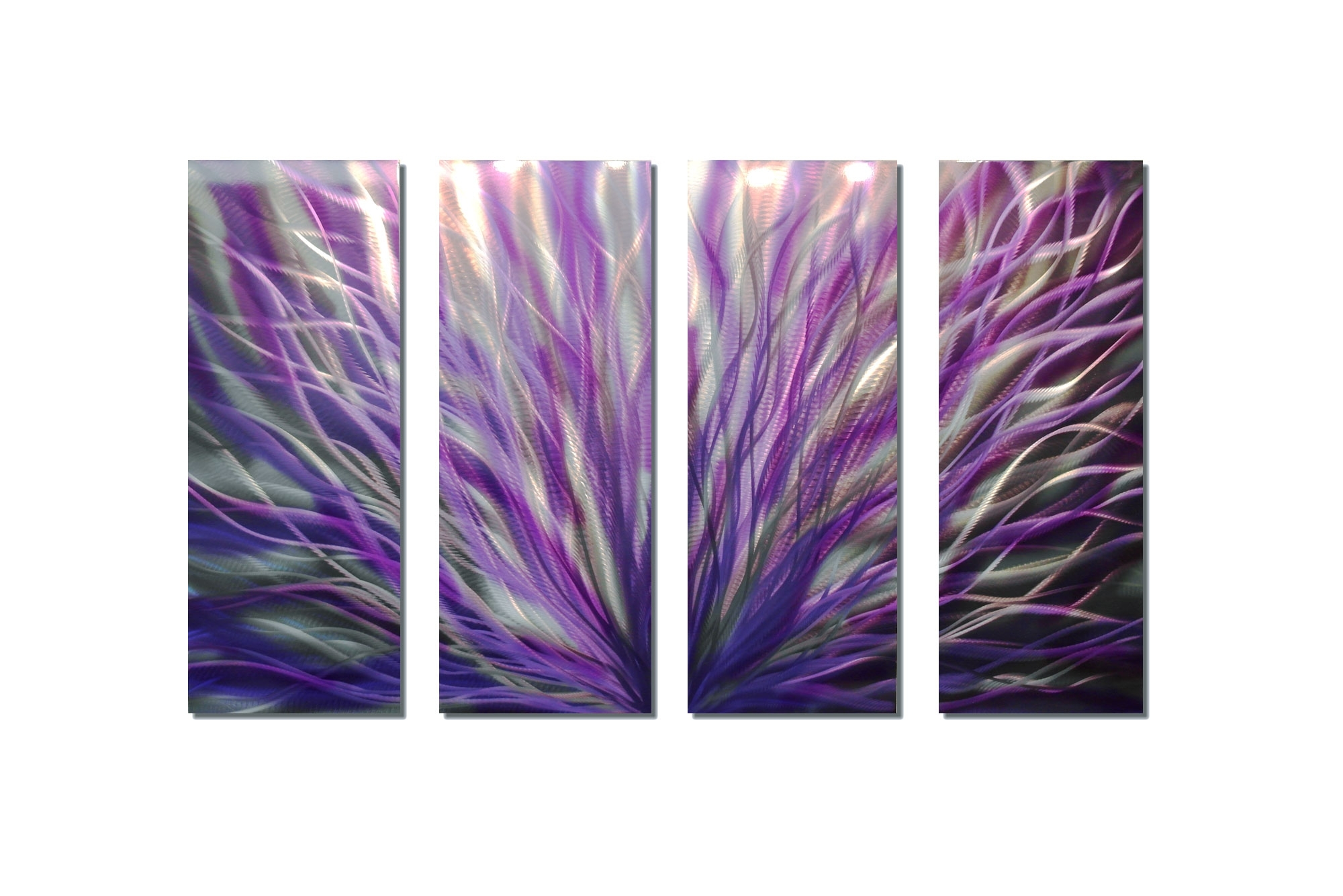 Purple Wall Art With Regard To Recent Radiance Purple 36X63 – Abstract Metal Wall Art Contemporary (View 10 of 15)