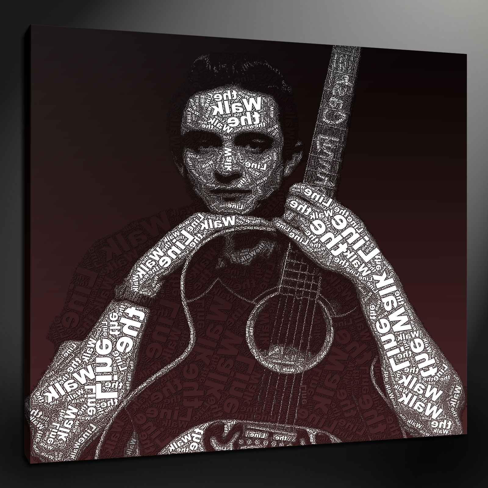 Quality Fine Art Canvas Print Pictures Quality Wall Hanging Home Decor Intended For Most Recently Released Johnny Cash Wall Art (View 14 of 15)