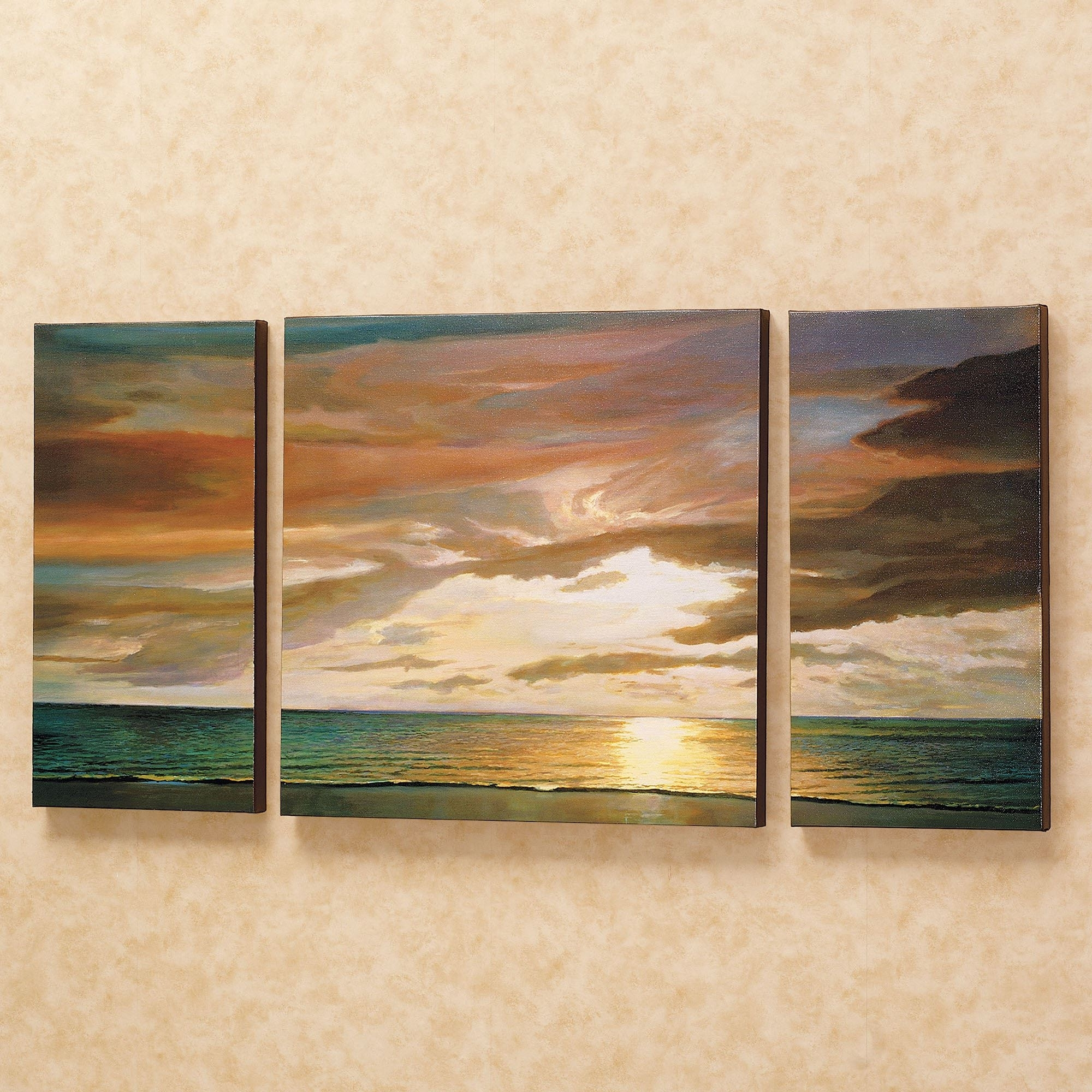 Quiet Horizons Canvas Triptych Art Set Throughout Favorite Triptych Art For Sale (View 7 of 15)