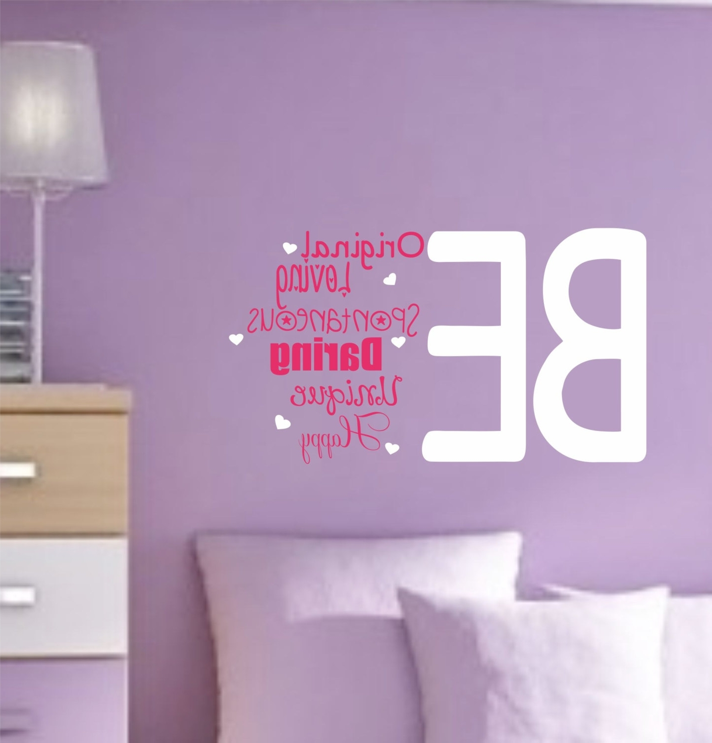 Quote Wall Decal Kids Room Decor Inspirational Saying Vinyl Wall Within Newest Wall Art For Teens (View 5 of 15)