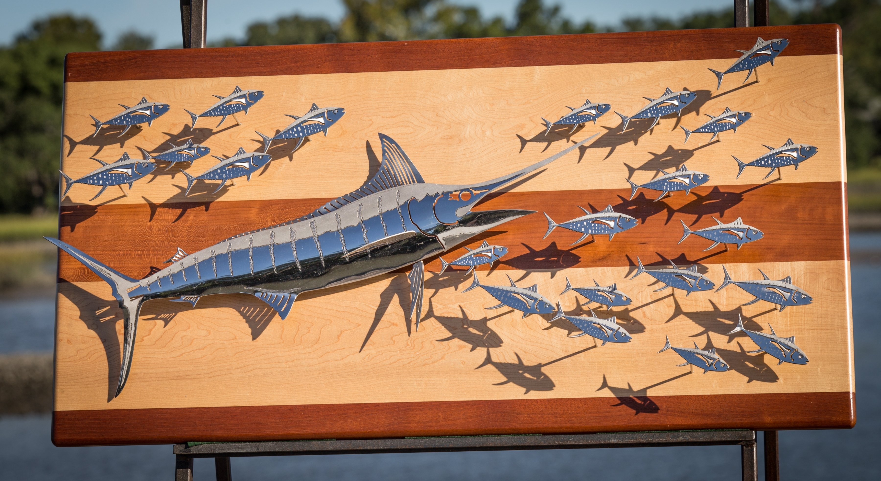 R Mended Metals In Stainless Steel Fish Wall Art (View 8 of 15)