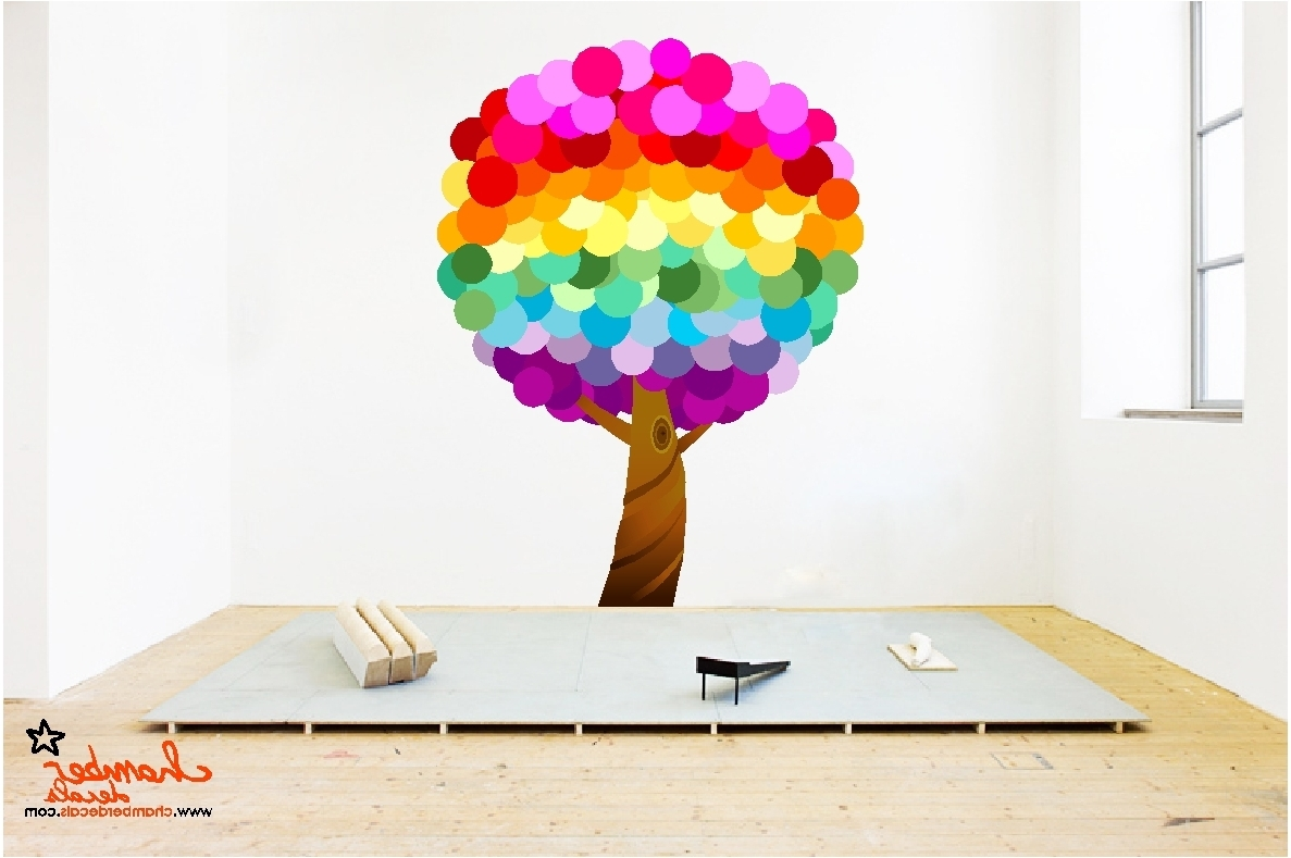 Rainbow Butterfly Wall Art Regarding Most Up To Date Designs : Rainbow Wall Stickers For Bedrooms With Rainbow (Gallery 12 of 15)