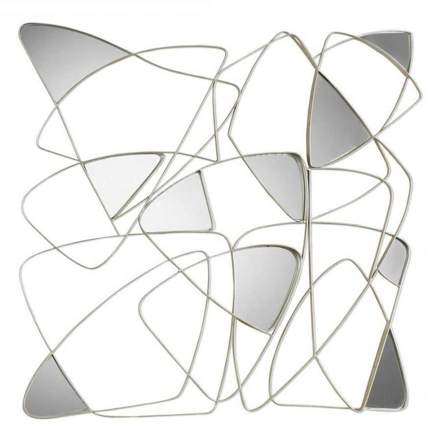 Recent 04054 Oswin Abstract Mirrored Wall Art Within Abstract Mirror Wall Art (View 12 of 15)
