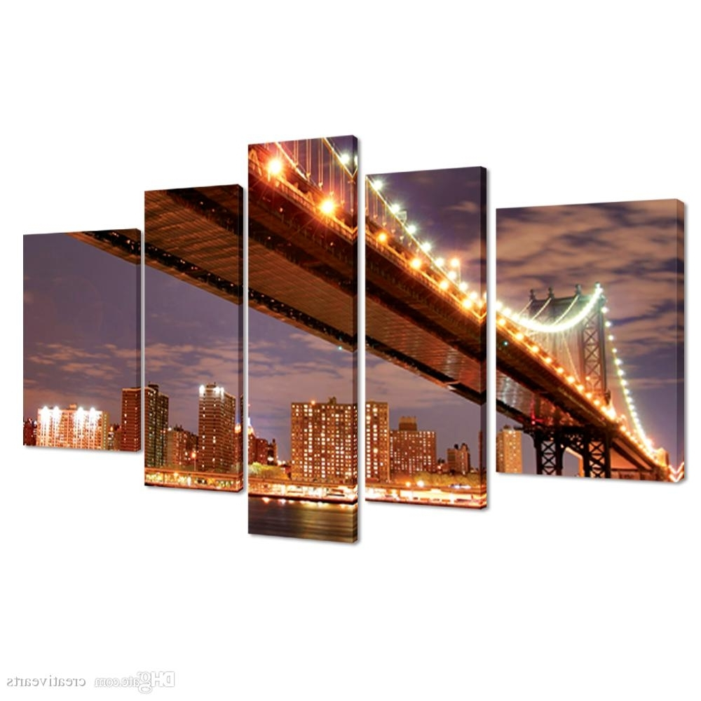 Recent 2018 Gallery Wrap Canvas Prints Large Size Modern Canvas Wall Art Pertaining To Cityscape Canvas Wall Art (View 13 of 15)
