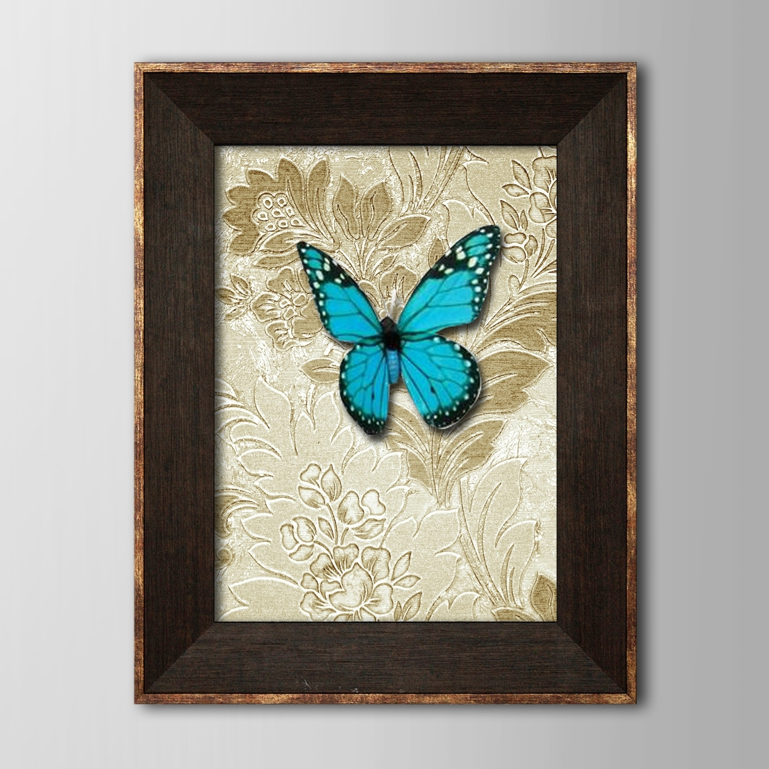 Recent 3D Butterfly Framed Wall Art Within Framed 3D Art Wall Art, Animal 3D Blue Butterflies, Wall Decor (Gallery 5 of 15)