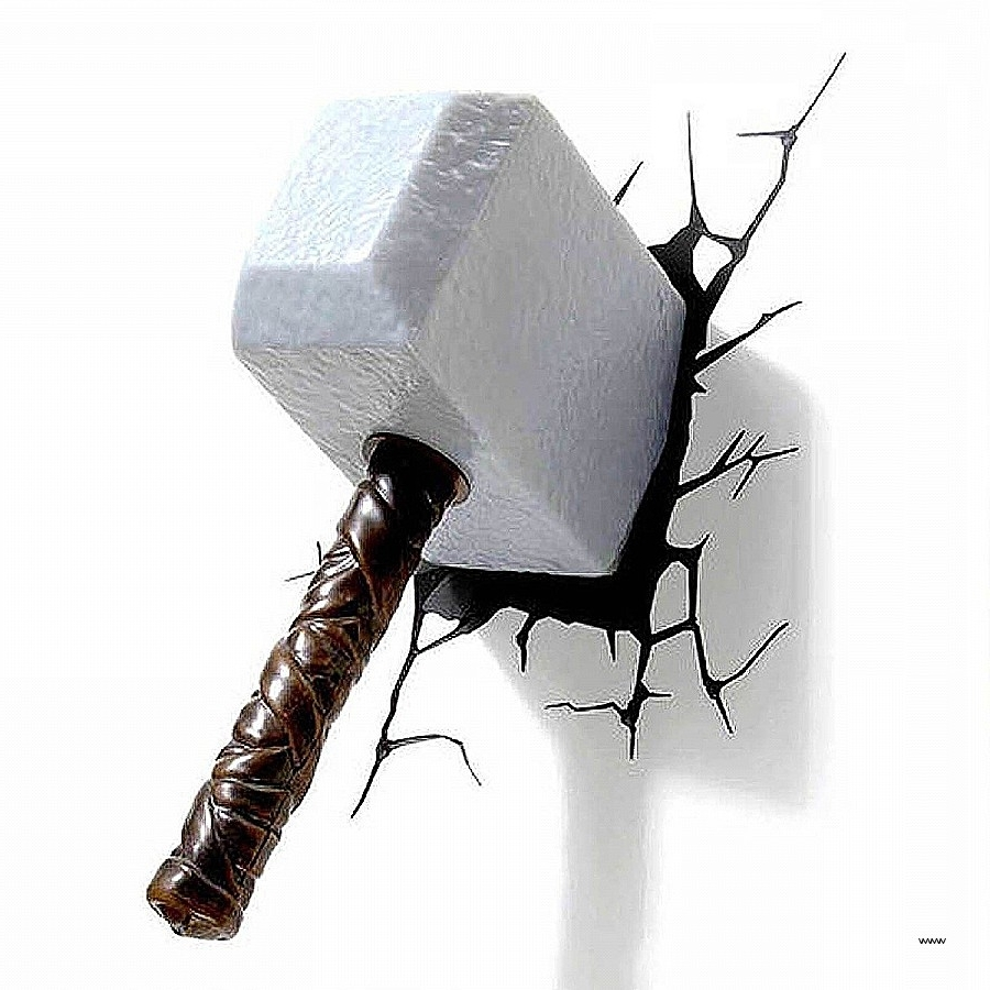 Recent 3D Wall Art Thor Hammer Nightlight Inspirational Best 20 Of 3D Intended For 3D Wall Art Night Light Australia (View 13 of 15)