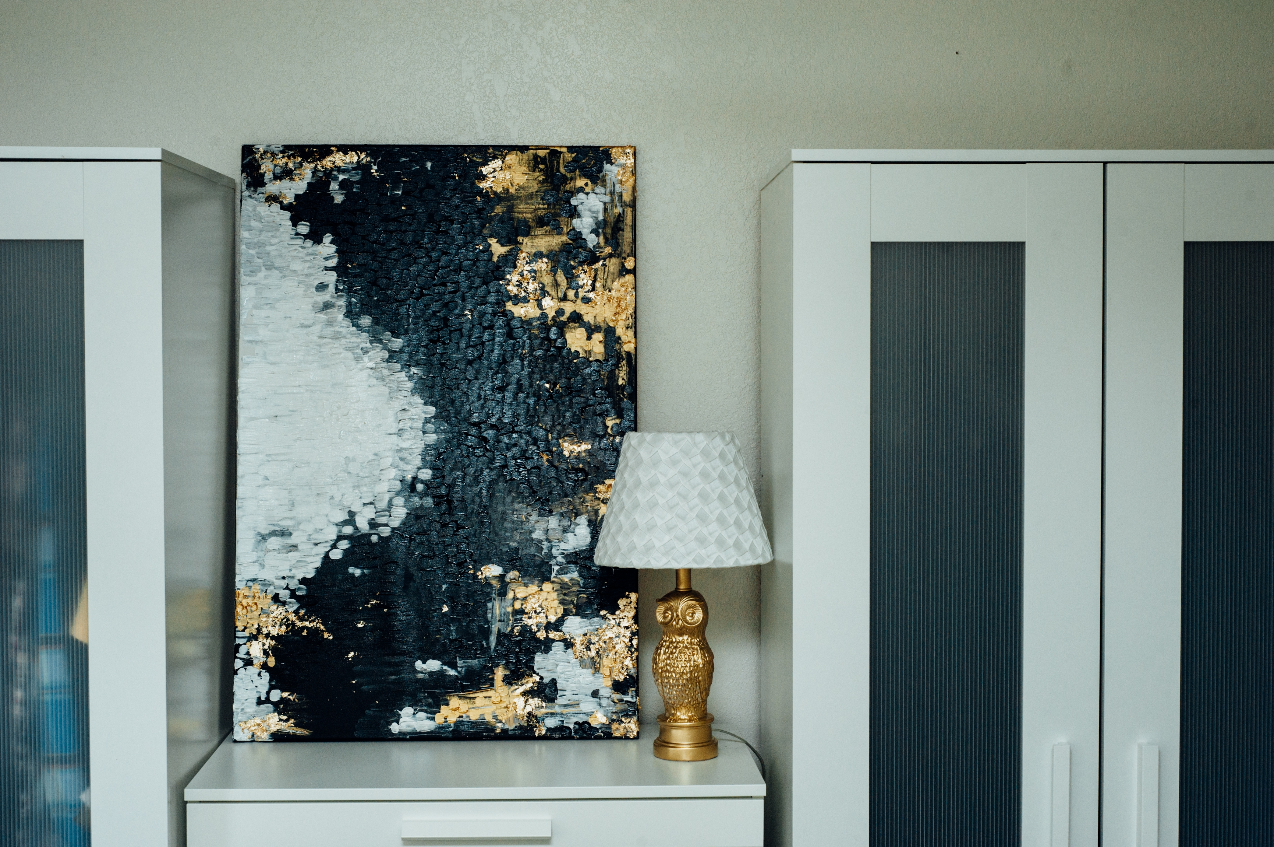"Recent 52 Projects :: #3 :: Acrylic Abstract Piece; ""Blotted Out"" – Dream For Black And Gold Abstract Wall Art (View 10 of 15)"