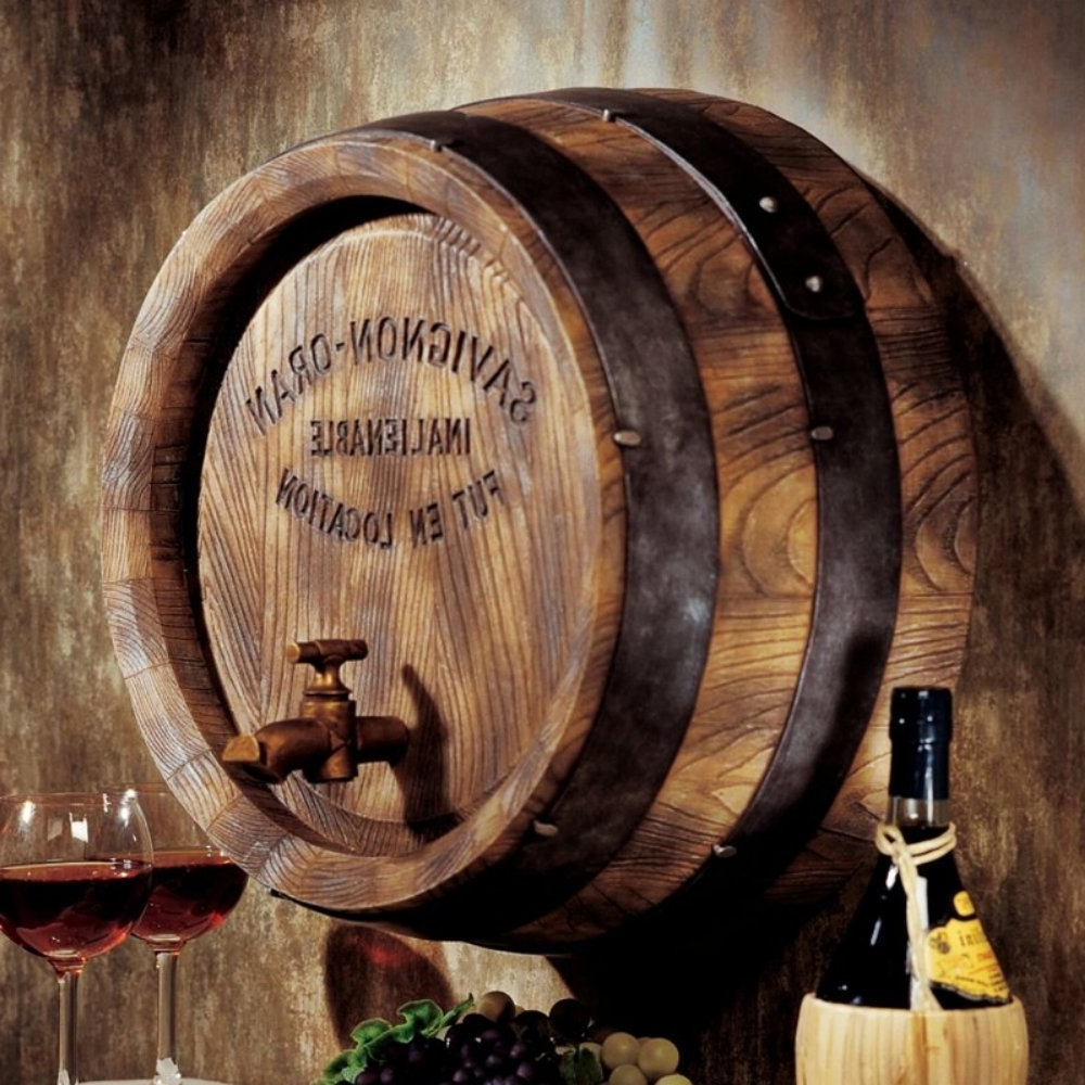 Recent 9 Unique Wine Decorations – Wine Gifted In Wine Barrel Wall Art (Gallery 5 of 15)