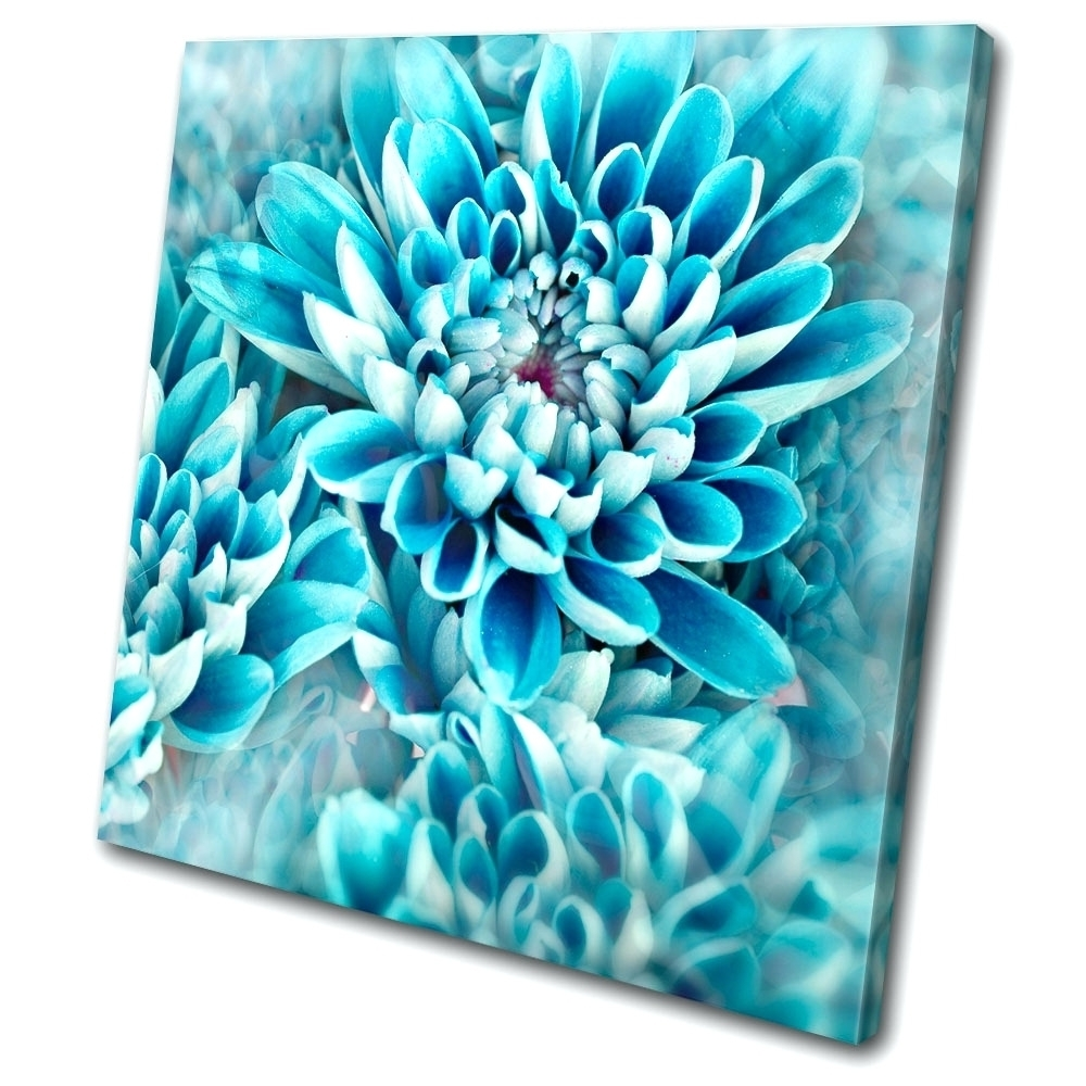 Recent Abstract Flower Metal Wall Art In Wall Arts ~ Original Art Abstract Blue White Floral Painting (View 10 of 15)