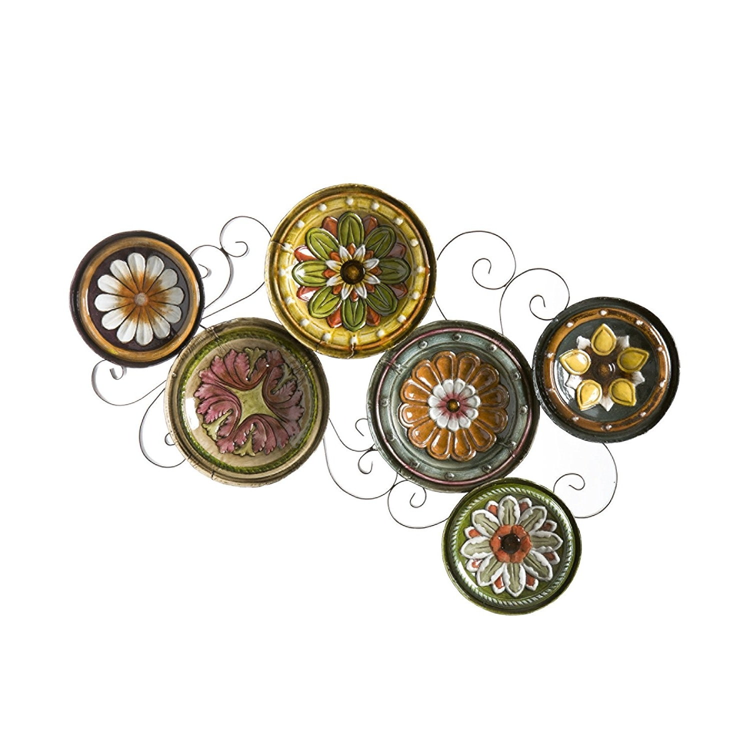 Recent Amazon: Sei Scattered Italian Plates Wall Art: Wall Sculptures Regarding Midnight Italian Plates Wall Art (View 15 of 15)