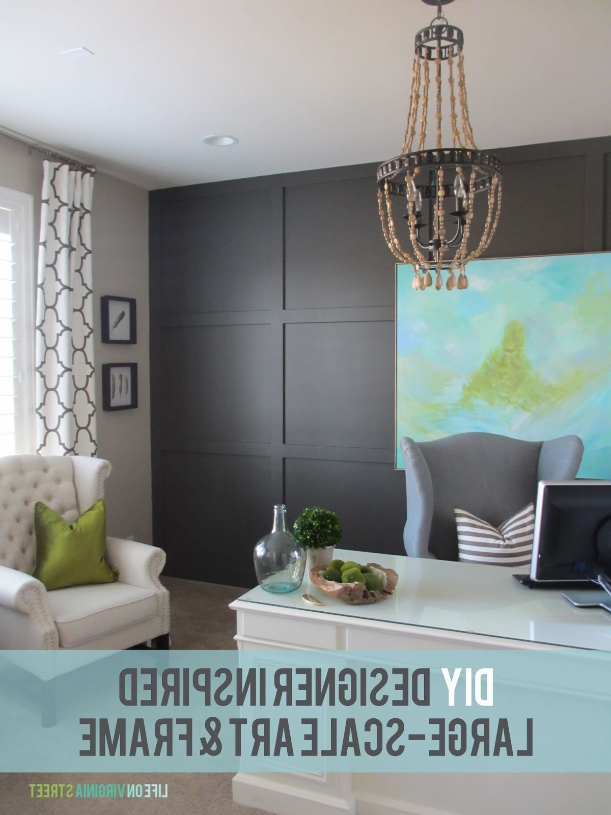 Recent Art For Large Wall Pertaining To Diy Large Scale Art – Designer Inspired! (View 11 of 15)