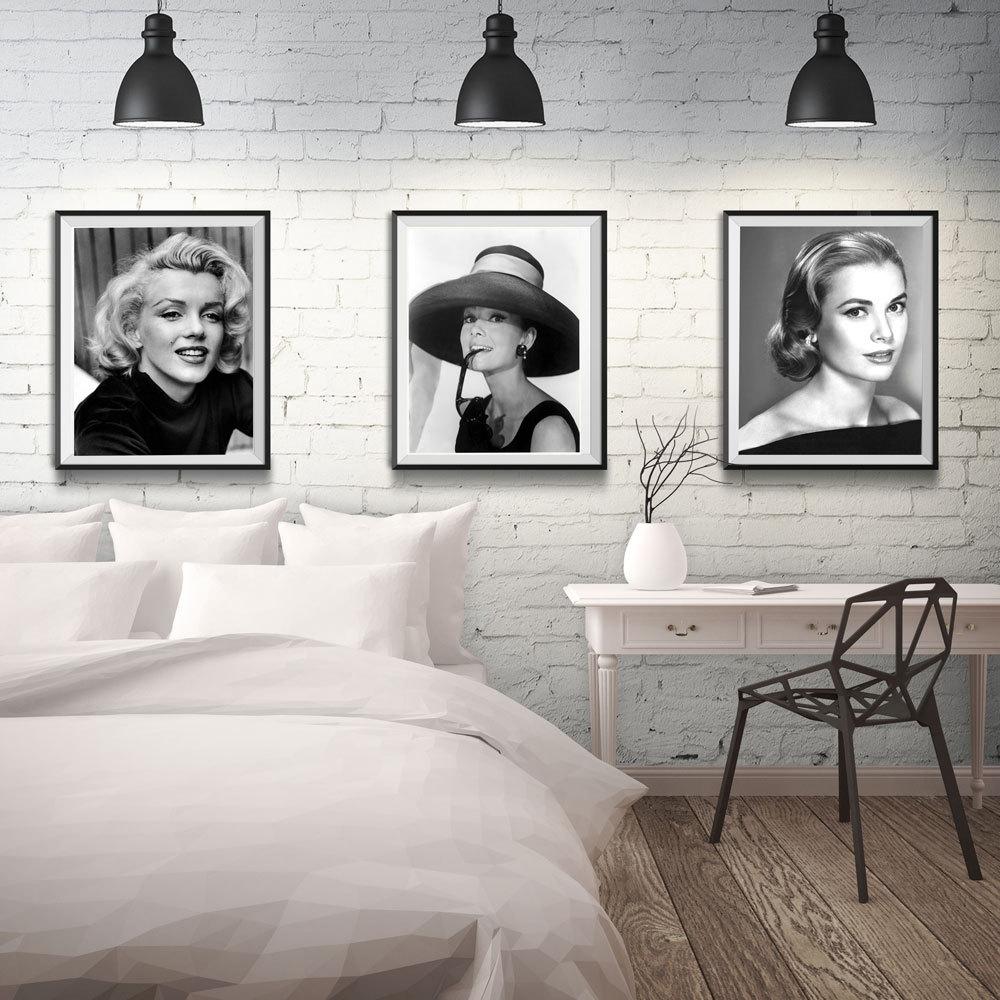 Recent Audrey Hepburn Print Hepburn Poster Marilyn Monroe Print Monroe Regarding Marilyn Monroe Black And White Wall Art (View 7 of 15)