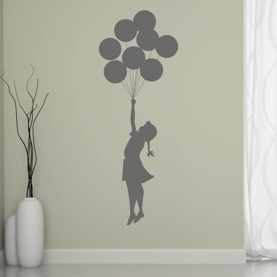 Recent Banksy Balloon Girl Wall Stickermirrorin (Gallery 9 of 15)