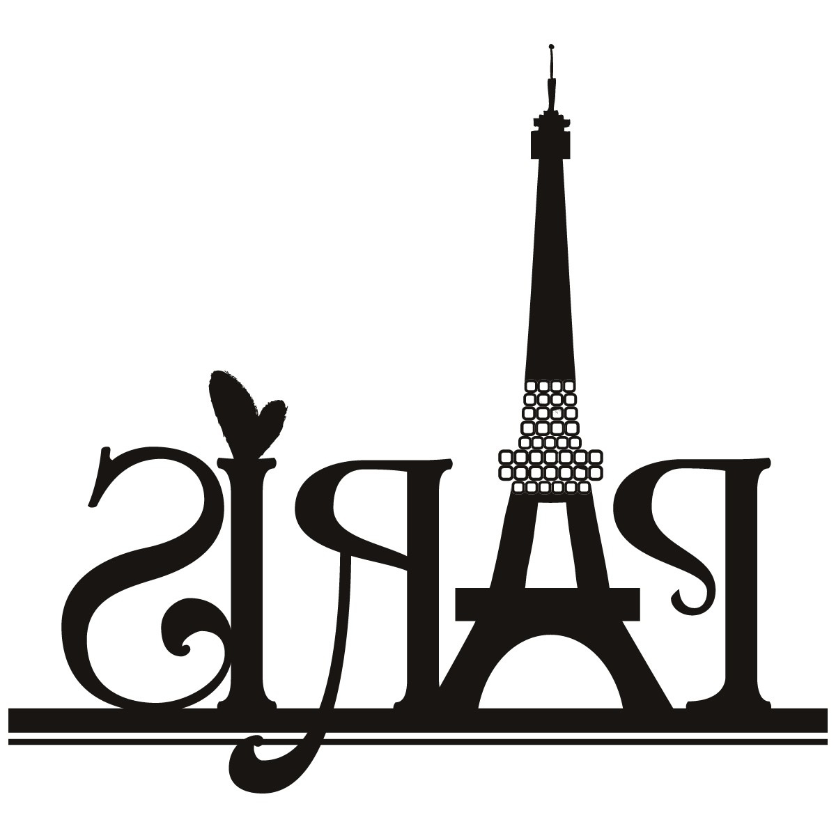 Recent Black And White Paris Wall Art Throughout Paris Eiffel Tower Wall Art Sticker 30 1,200×1,200 Pixels (View 14 of 15)