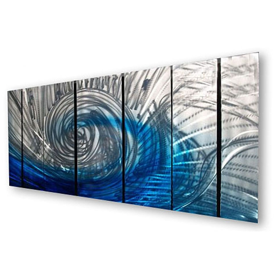 Recent Blue Abstract Wall Art Within Wall Art Designs: Abstract Wall Art Waveash Carl 7 Piece (Gallery 8 of 15)