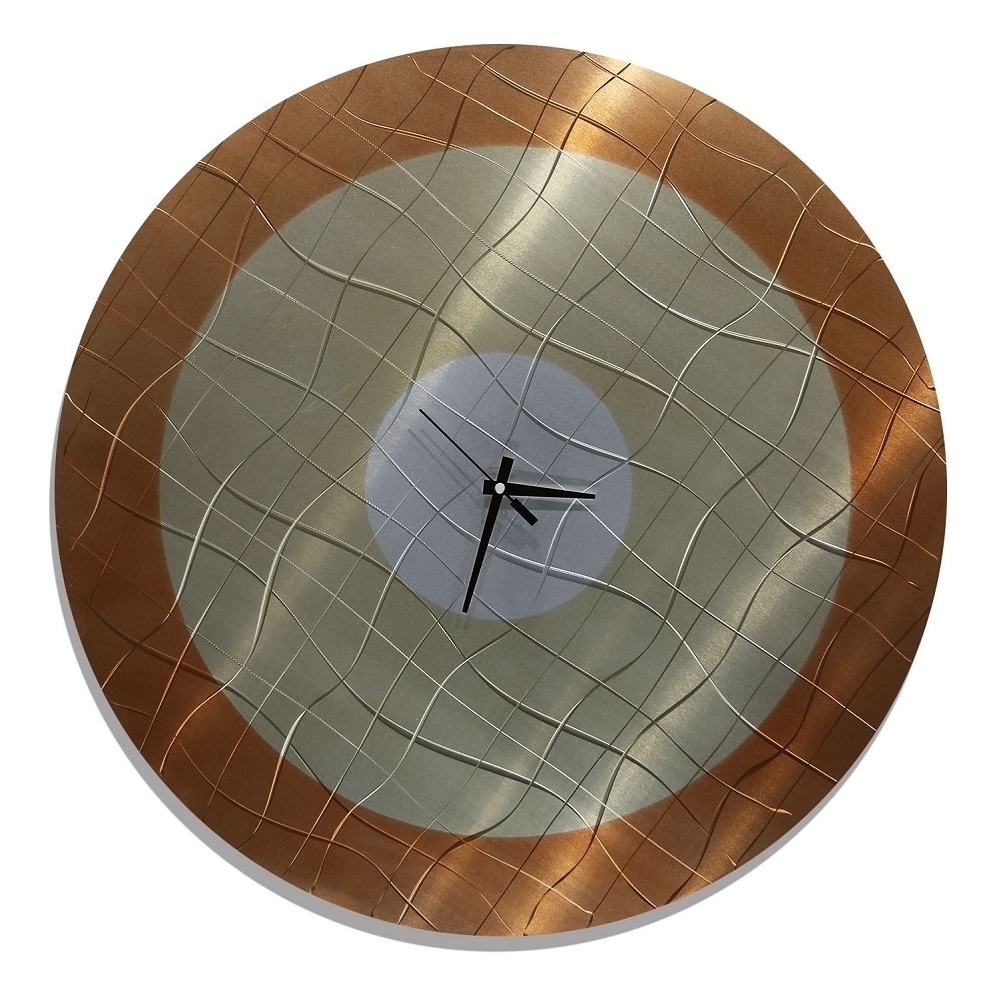 Recent Contemporary Abstract Metal Wall Clocks Throughout Abstract Wall Art With Clock (View 13 of 15)
