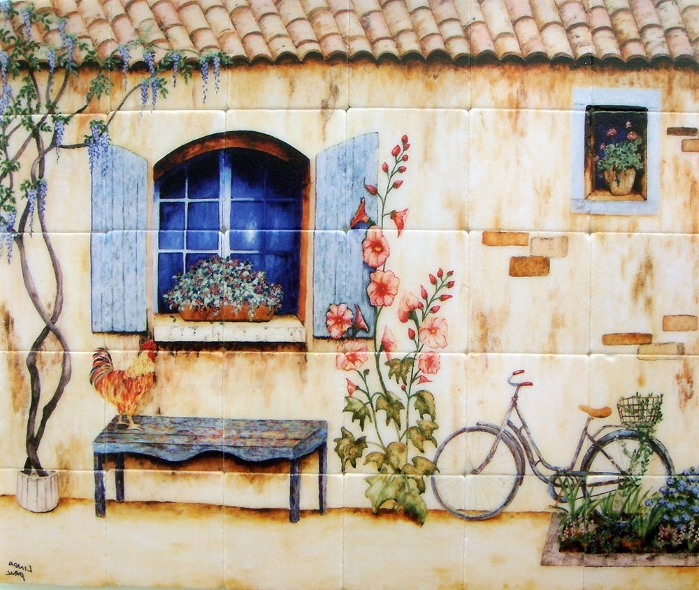 Recent Country French Wall Art Regarding Our French Country House Mural Splash Back In This White Kitchen (View 13 of 15)