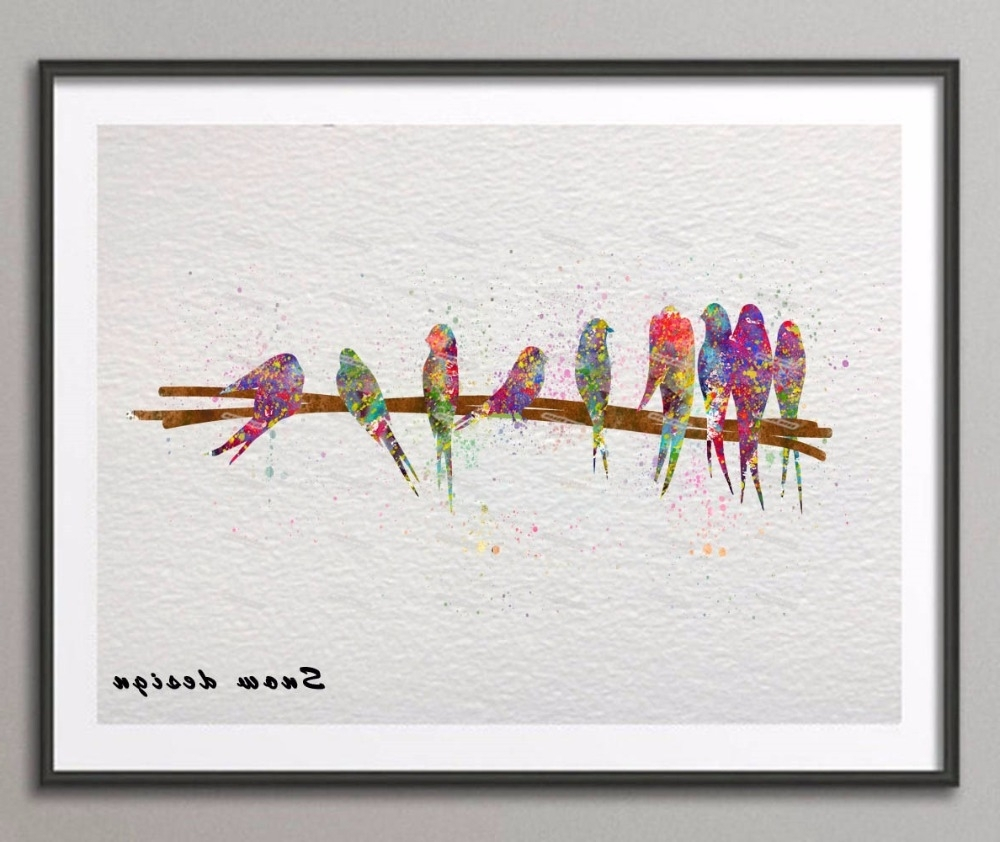 Recent Custom 10+ Birds On A Wire Wall Art Decorating Design Of Birds On For Birds On A Wire Wall Art (View 14 of 15)