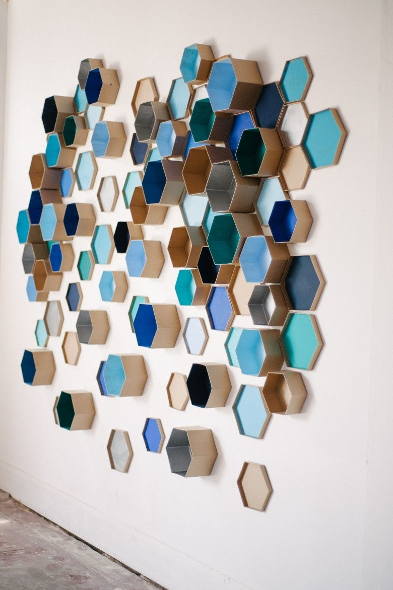 Recent Diy Accent Wall: 3D Geometric Wall Art For The Nursery Intended For 3D Circle Wall Art (View 14 of 15)