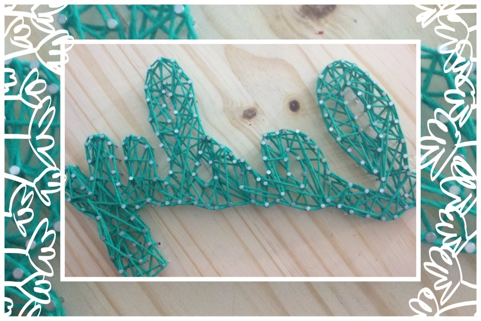 Recent Diy Nail String Art Tutorial – Youtube Intended For Nail And Yarn Wall Art (View 5 of 15)