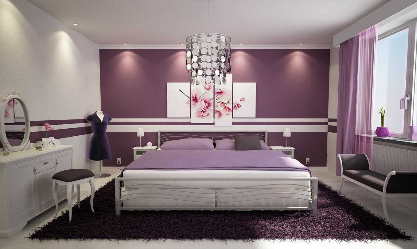 Recent Enchanting Purple Wall Decor For Bedrooms Trends With Stickers With Purple Wall Art For Bedroom (View 2 of 15)