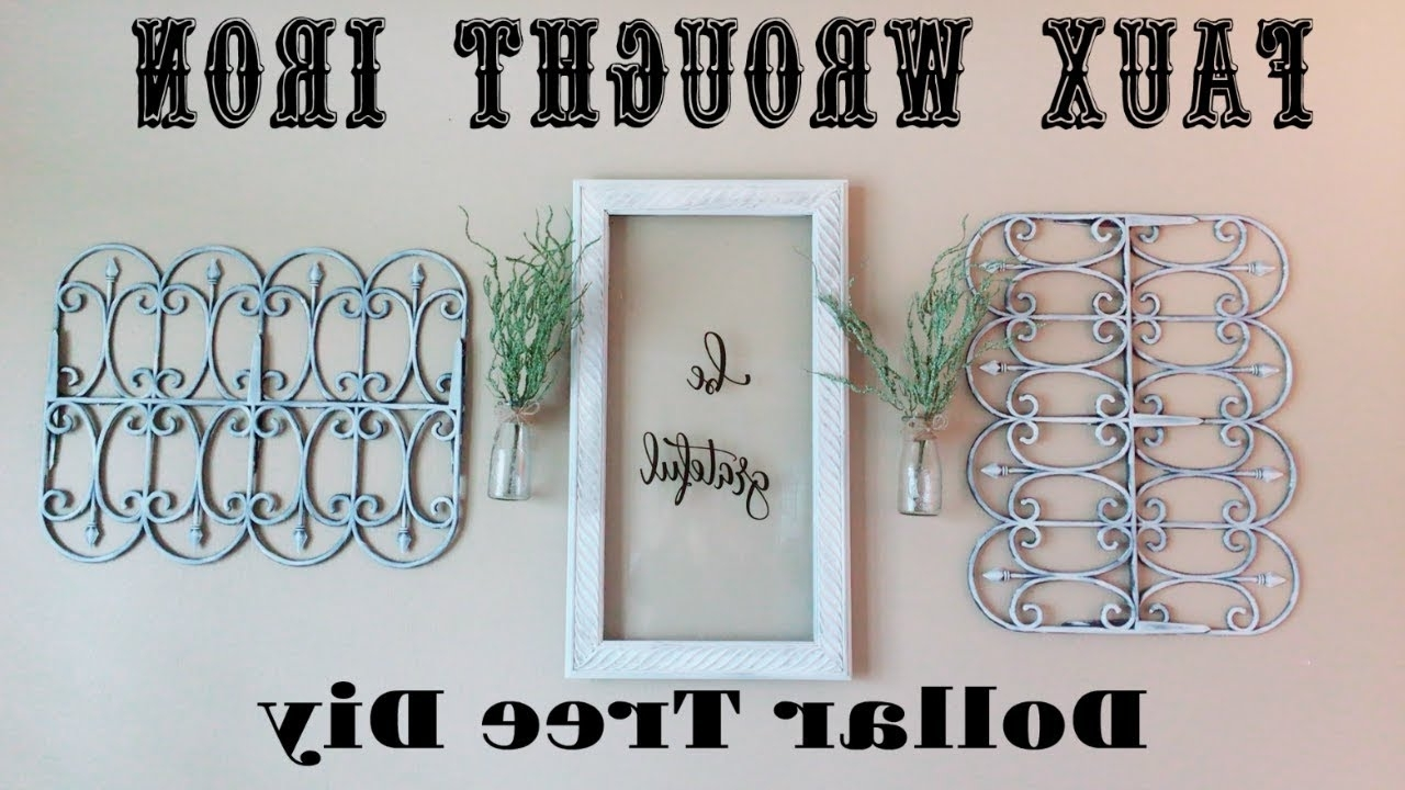 Recent Faux Wrought Iron Wall Decors Inside Diy Dollar Tree Faux Wrought Iron Wall Decor – Youtube (View 13 of 15)
