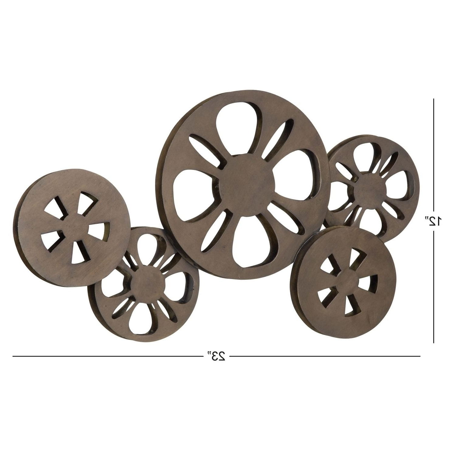 Recent Film Reel Wall Art In Antique Bronze Movie Reel Metal Wall Art – Free Shipping Today (View 11 of 15)