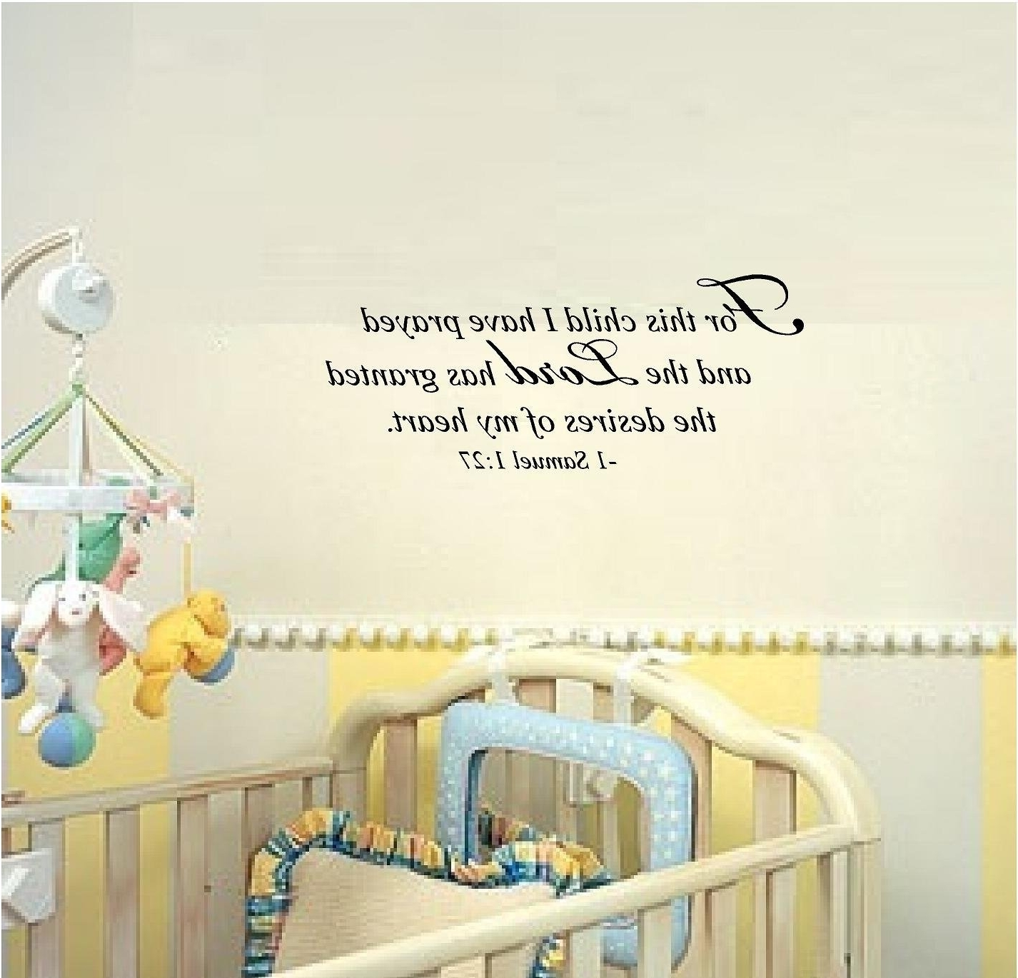 Recent For This Child I Prayed Wall Art Within Amazon: For This Child I Have Prayed And The Lord Has Granted (Gallery 3 of 15)