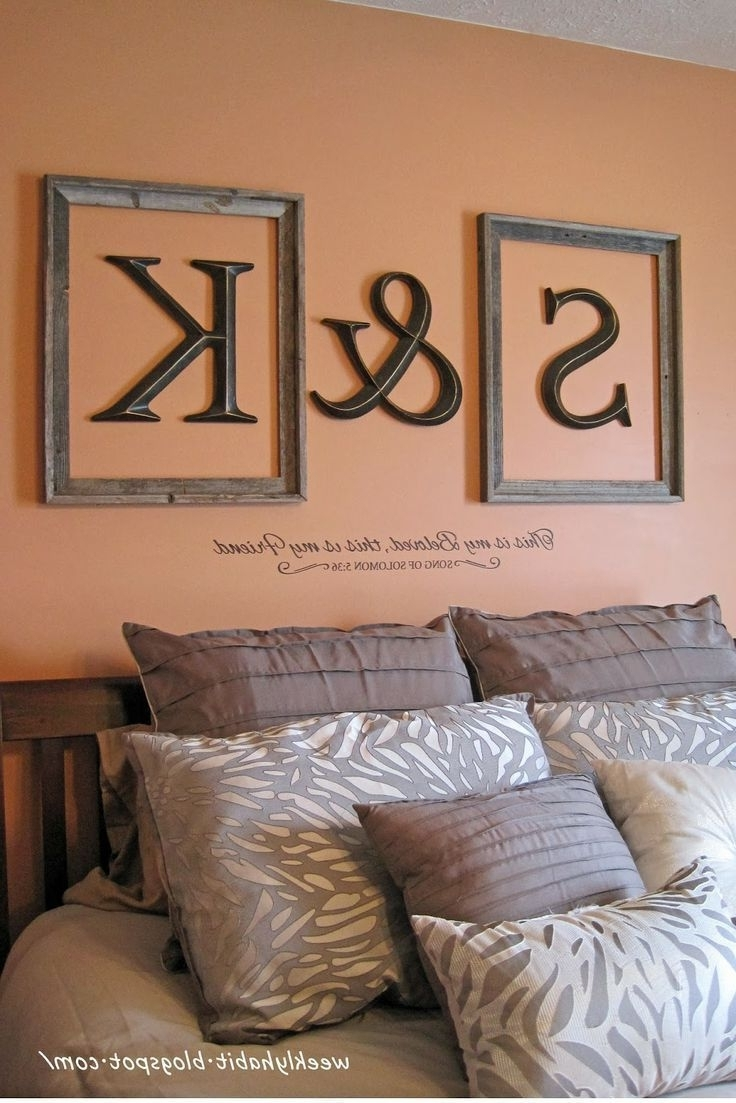 Recent Framed Monogram Wall Art With Regard To Love This Idea. Initials Framed Above The Bed (View 12 of 15)