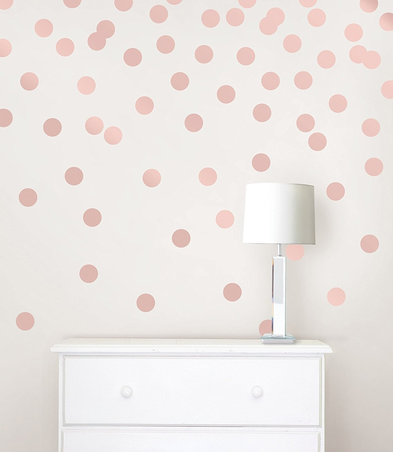 Recent Gold Wall Art Stickers With Wall Pops Wpd2137 Rose Gold Confetti Dot Decals – – Amazon (View 12 of 15)