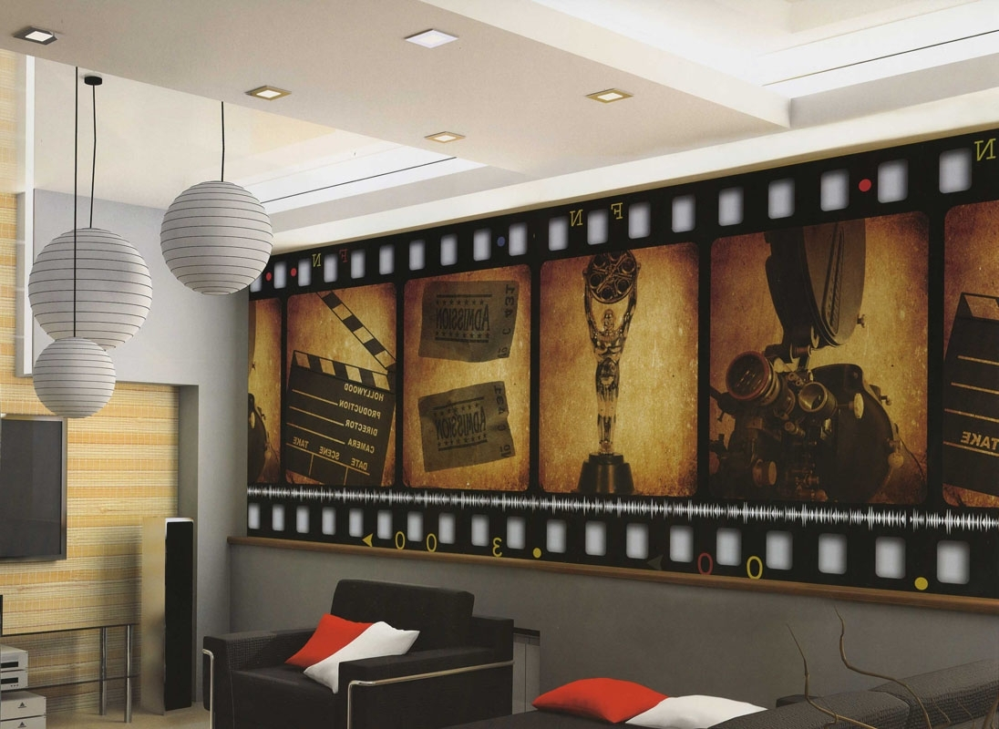 Recent Home Theater Decor Film Filmstrip Wallpaper Wall Mural (View 6 of 15)