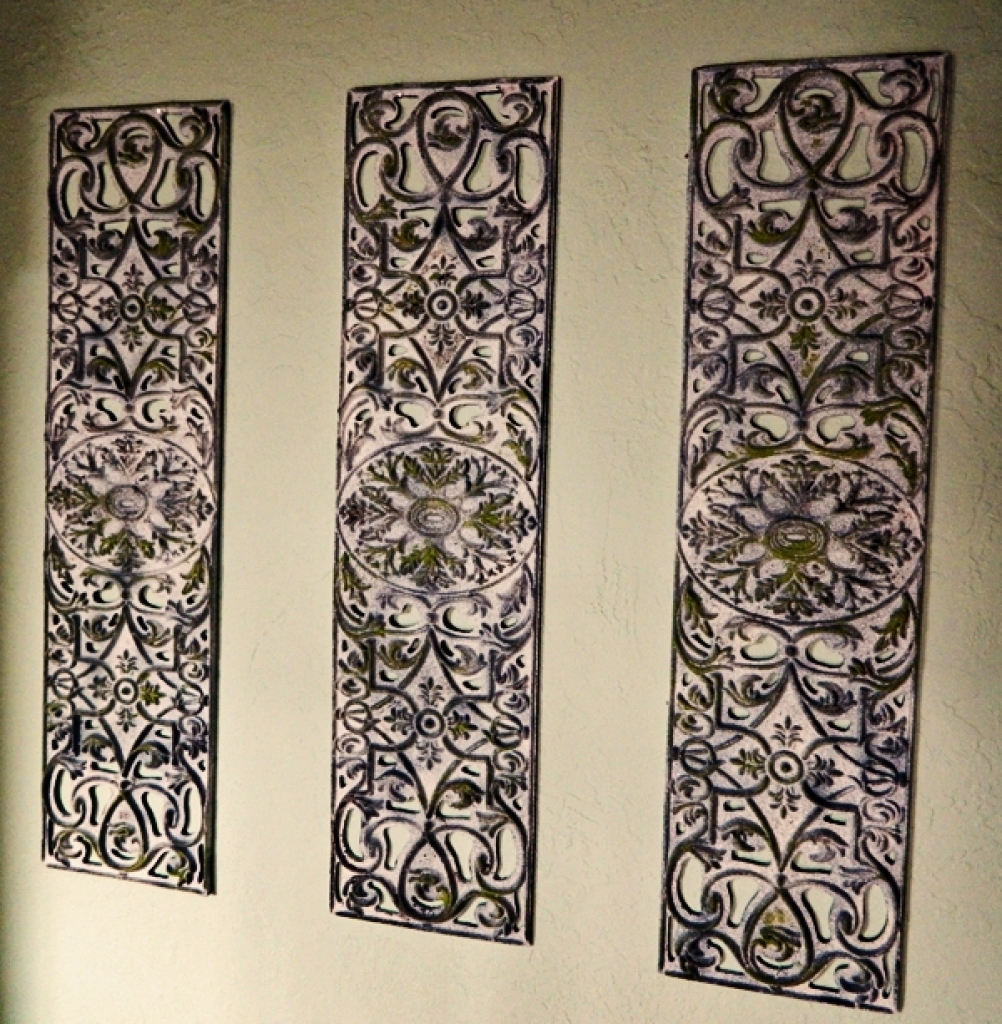Recent Iron Scroll Wall Art Within Wrought Iron Decorative Wall Panels Iron Scroll Wall Art Foter (Gallery 12 of 15)
