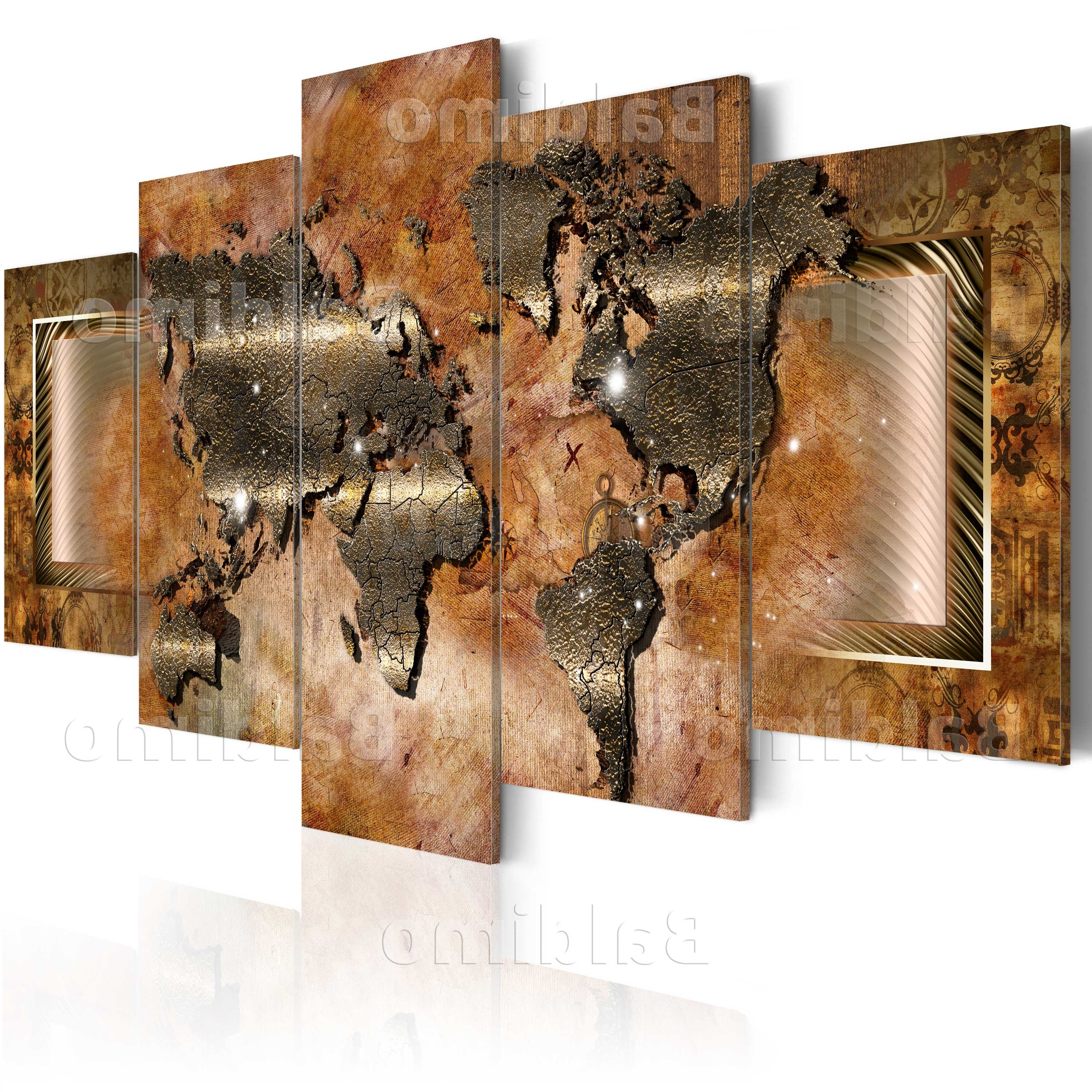 Recent Large Canvas Wall Art Print + Image + Picture + Photo World Map Within Huge Canvas Wall Art (View 13 of 15)