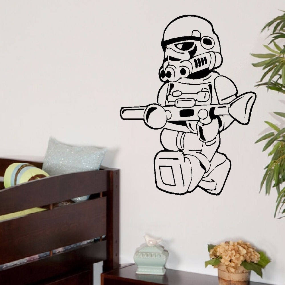 Recent Large Star Wars Lego Men Storm Trooper For Children Kids Bedroom Pertaining To Lego Star Wars Wall Art (Gallery 11 of 15)