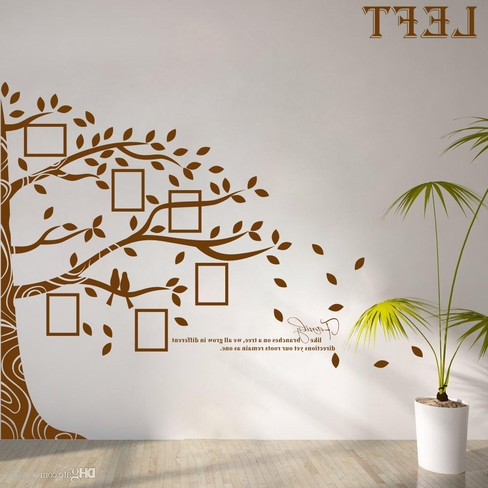 Recent Large Vinyl Family Tree Photo Frames Wall Decal Sticker Vine Intended For Vinyl Wall Art Tree (View 9 of 15)