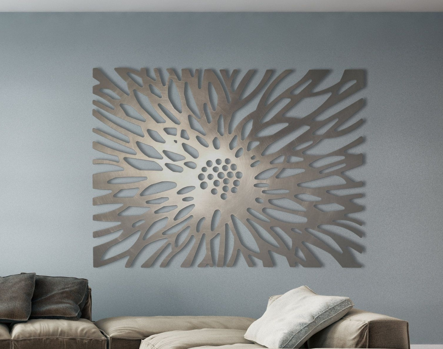 Recent Laser Cut Metal Decorative Wall Art Panel Sculpture For Home Pertaining To Sheet Metal Wall Art (Gallery 14 of 15)