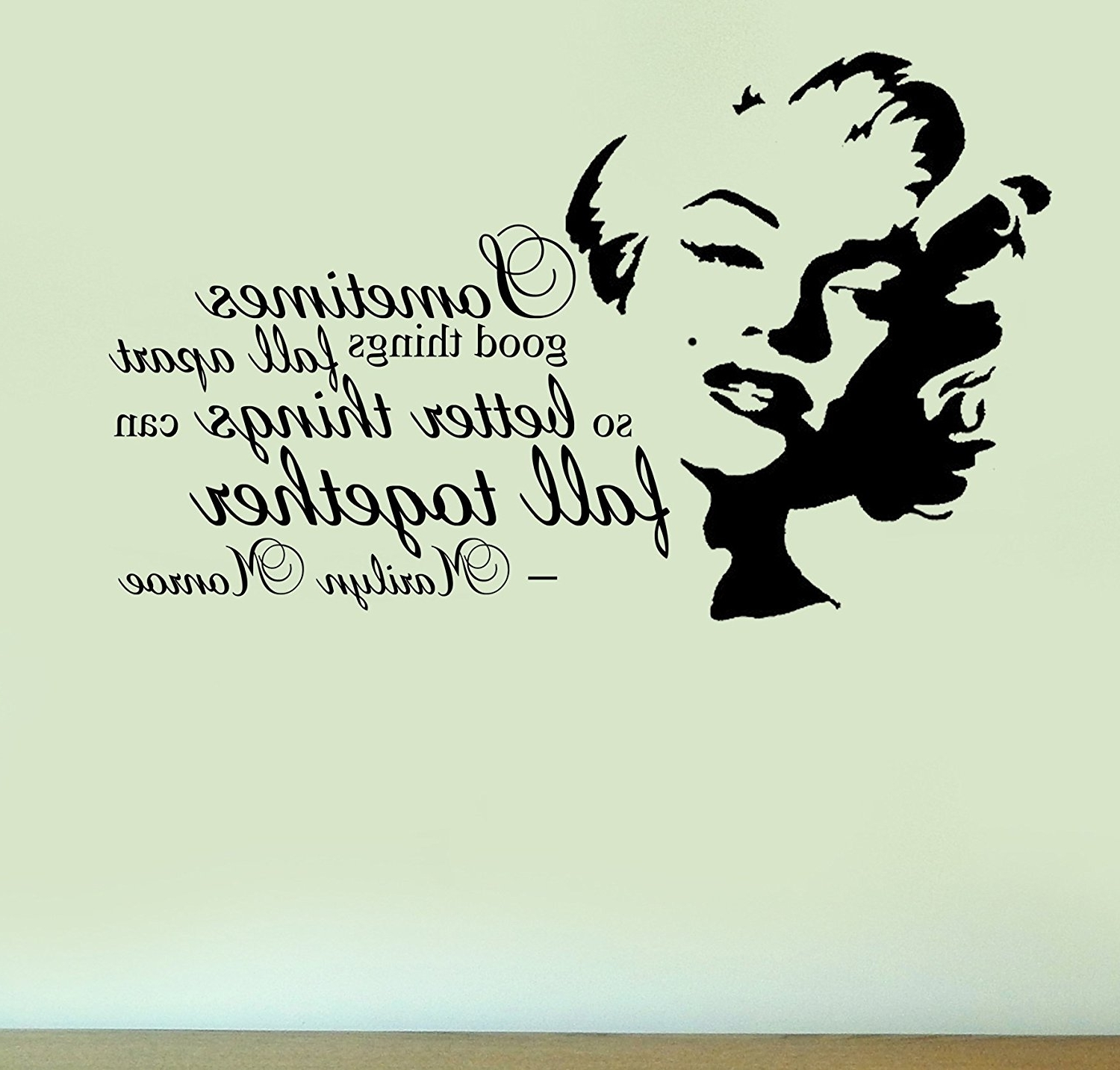 Recent Marilyn Monroe – Fall Together Quote – Vinyl Wall Art Sticker Home In Marilyn Monroe Wall Art Quotes (View 12 of 15)