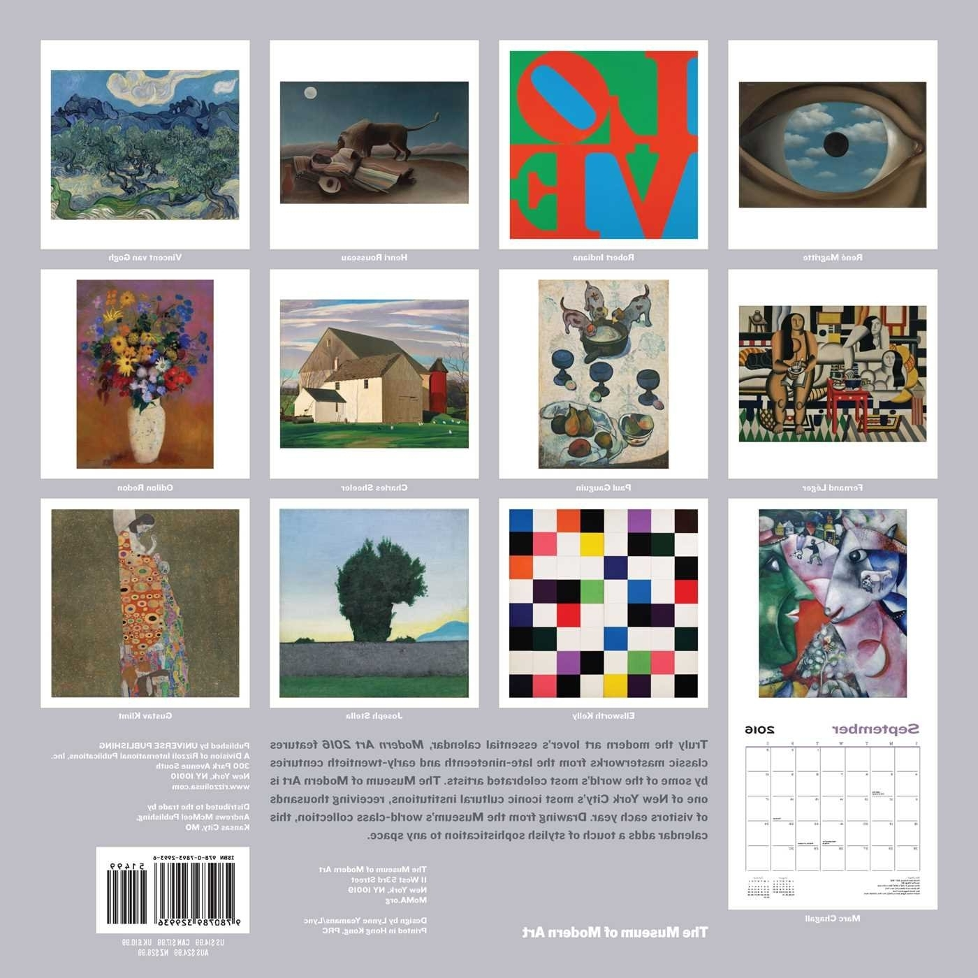 Recent Modern Art 2016 Wall Calendar: The Museum Of Modern Art Pertaining To Abstract Calendar Art Wall (View 12 of 15)