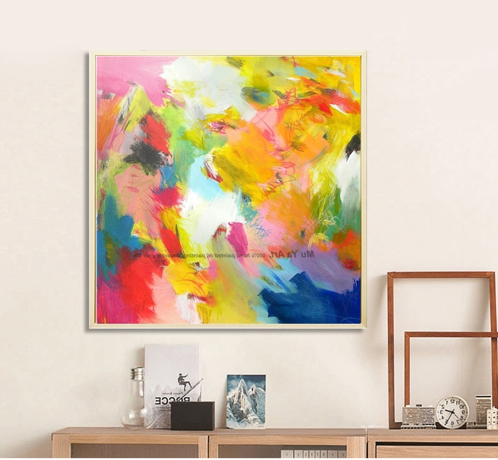 Recent Muya Artist Supply Cheap Modern Painting Abstract Wall Art Canvas In Cheap Abstract Wall Art (View 12 of 15)