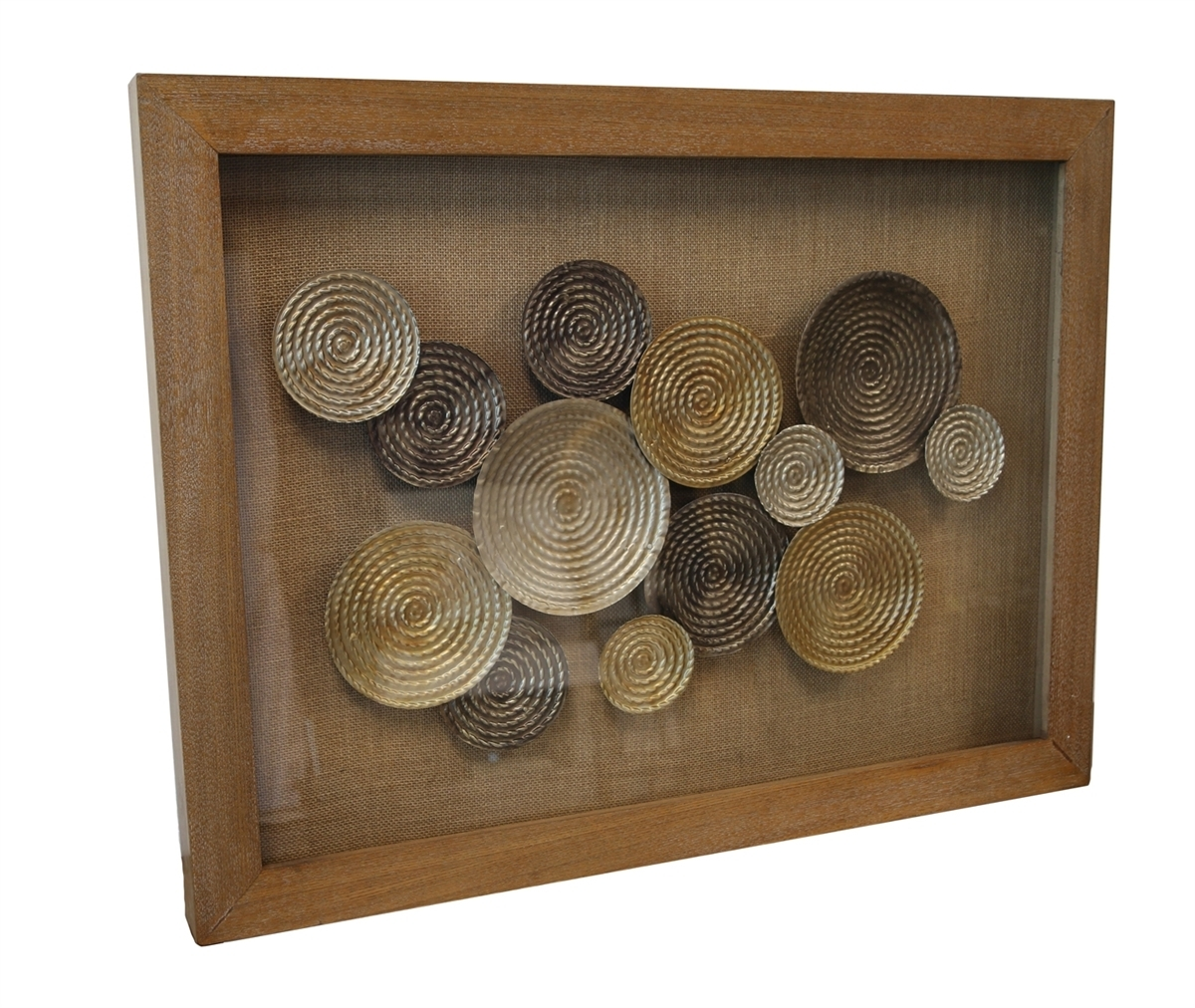 Recent Natural Wood Wall Art Throughout Metal Circle Wall Art, Natural Wood Frame (View 11 of 15)