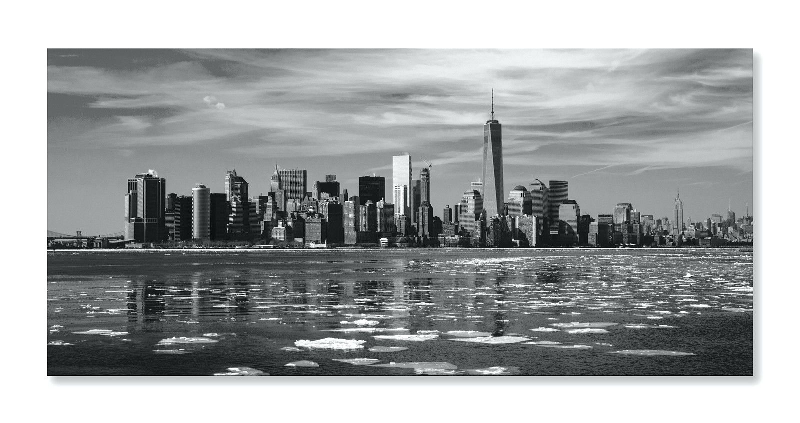 Recent New York Skyline Canvas Black And White Wall Art With Wall Arts ~ New York City Wall Art Sticker New York City Wall Art (Gallery 13 of 15)