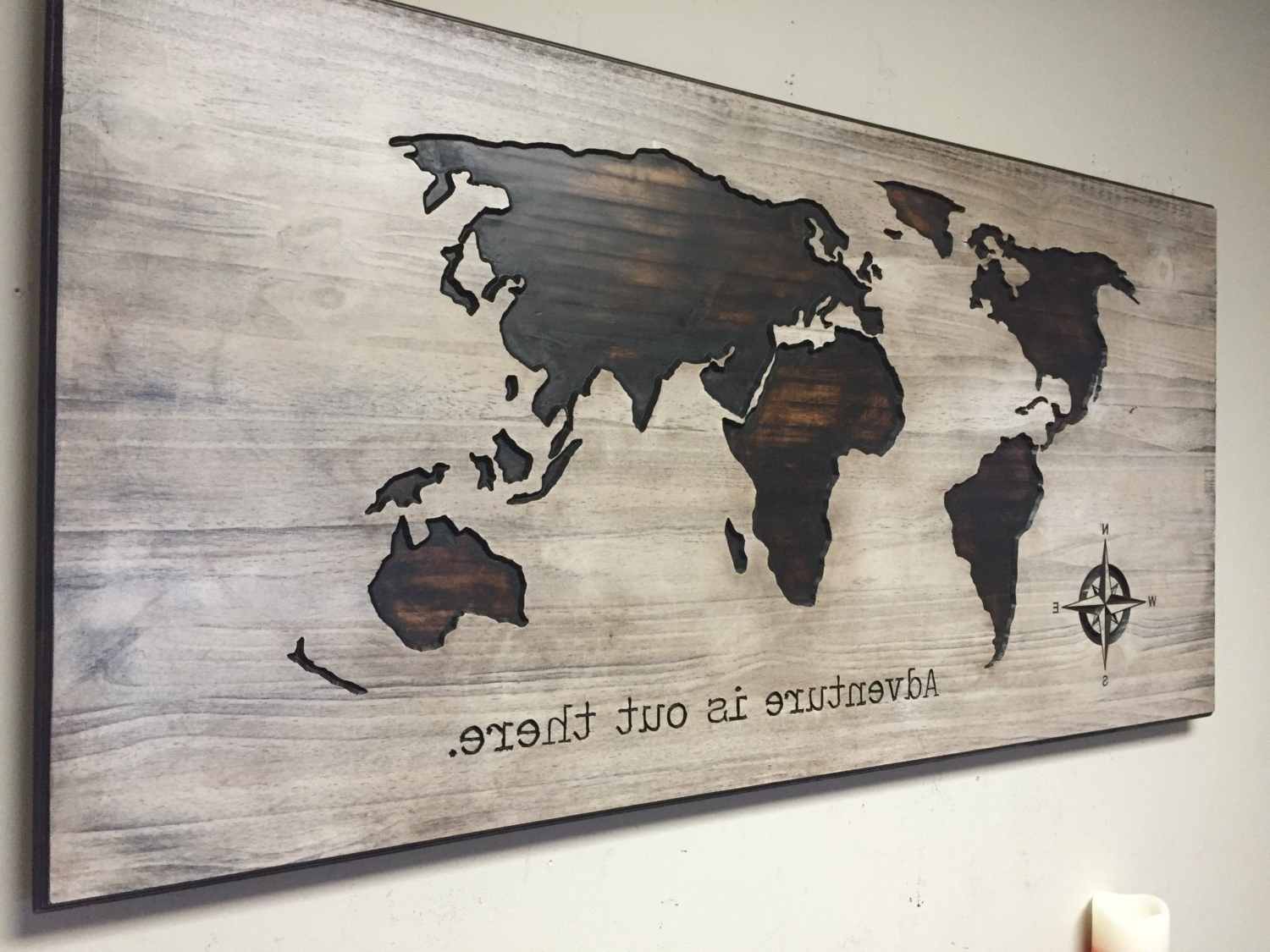 Recent Nursery Decor Idea, Wood Wall Art, World Map, Wooden Map, Rustic Pertaining To World Map Wood Wall Art (Gallery 6 of 15)
